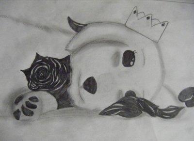 Un chien & une rose...