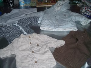 Lot vêtements bébé garçon taille 1 mois. Prix   10 euros. - Vente ... f1b7d022b70