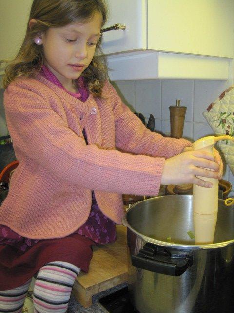 Moi en apprentie petite cuisinière gourmande