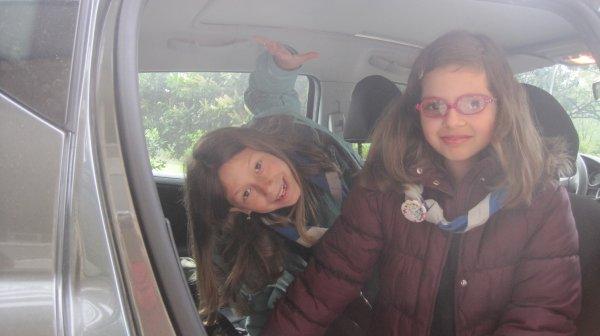 En route pour le mini camp Scouts !