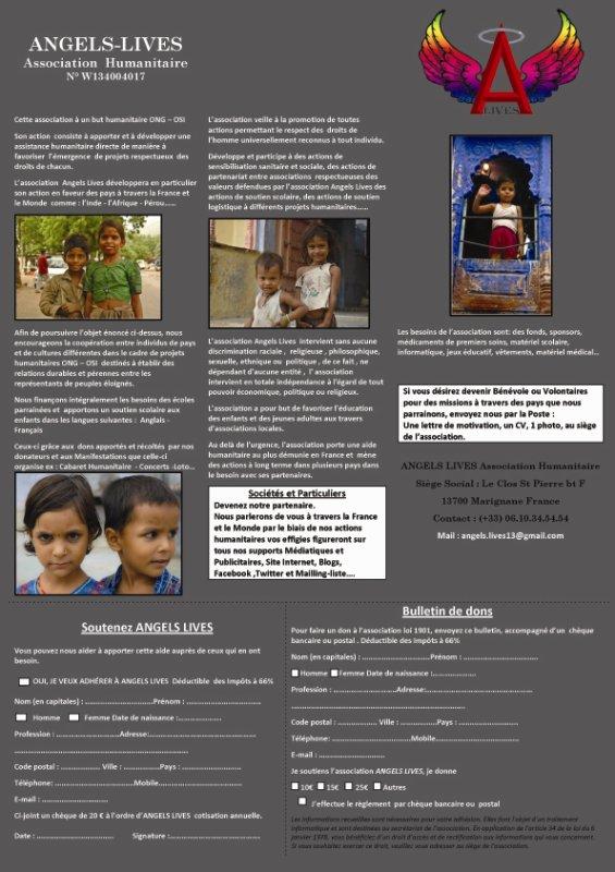 flyer humanitaire angels lives 2011 officiel