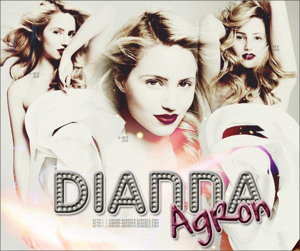 .  DIANNA-AGRONFR . skyrock ♣ ............Ta nouvelle source sur Dianna Agron !.Pour en savoir plus sur Dianna Agron :[/s.]Dianna Agron est une actrice et chanteuse américaine née le 30 avril 1986 à Savannah, en Géorgie (États-Unis). Elle est principalement connue pour son rôle de Quinn Fabray dans la série télévisée Glee diffusée sur la FOX. Elle est apparue dans plusieurs séries télévisées tel que Les Experts : Manhattan, Juste cause ou NUMB3RS et a obtenu un rôle récurrent dans Veronica Mars. Son rôle le plus notable jusqu'à présent, est celui de Quinn Fabray dans la série télévisée Glee où elle joue le rôle une pom-pom girl qui tombera enceinte. Dans la vraie vie, elle est très proche de Lea Michele (Rachel Berry dans Glee), puisqu'elles ont vécu en colocation pendant sept mois. ............................Tout emprunt est crediter ! . .