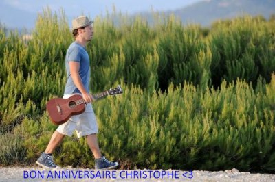 L'anniversaire a Christophe :)