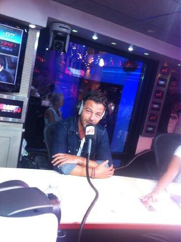Christophe Mae en direct sur NRJ :)
