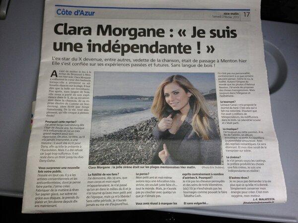 Clara dans le journal