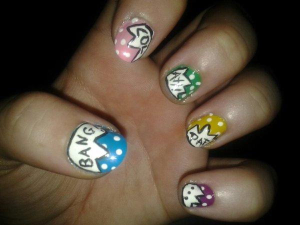 Nail art 13 (main gauche)