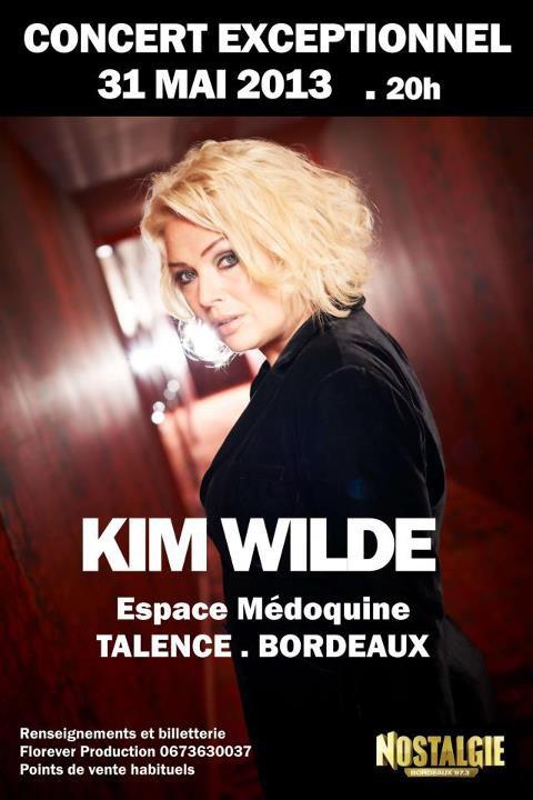 Voilà c'est enfin aujourd'hui le concert de Kim Wilde a Talence
