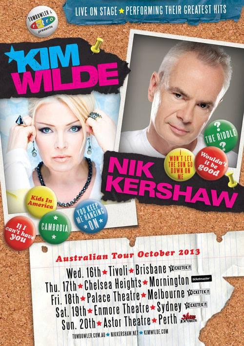 Kim Wilde & Nik Kershaw Tournée Australienne