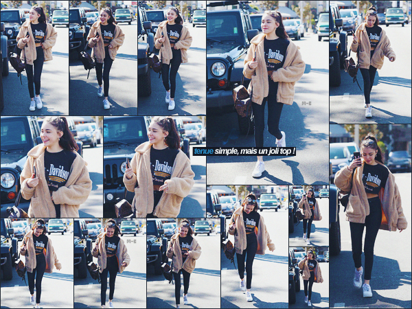 - -• 22/02/18-' : La mignonne Madison Beer à été photographiée s'accordant une matinée shopping, dans Los Angeles.    C'est toute souriante que notre petite Madison B. a montré le bout de son nez dans la matinée du 22 février 2018. Un petit top pour la tenue ! Avis? -