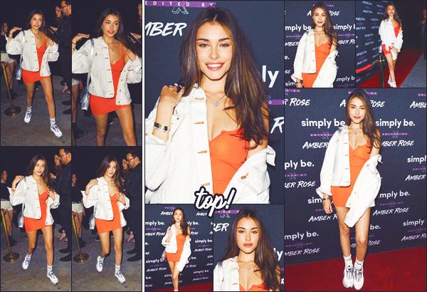 - -• 20/06/18-' : Madi a été photographiée à la soirée de lancement de «Amber Rose x Simply Be» à Bootsy Bellows • LA.     Notre belle demoiselle était encore une fois tout sourire pour cette soirée de lancement, j'aime beaucoup la tenue qu'elle porte, top. • • alors, ton avis ? -