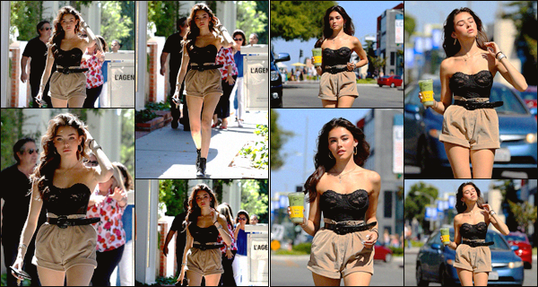 - -• 17/08/19-' : La belle Madison Beer a été photographiée seule, sortant du « Alfred Coffee »  de • West Hollywood, CA.    Je dois avouer que je suis complètement amoureuse et fan de la tenue que notre chanteuse porte en ce jour, elle est sublime, un top ! • Et ton avis? -