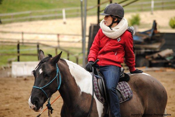 stage d 'equitaiton ethlogique avec pauline beulze tome 4  21 et 22 mars pauline a monter jeriko durant ce week end etant enceinte je me permets plus de monter a cheval ;)