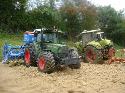 début du semis de blé...