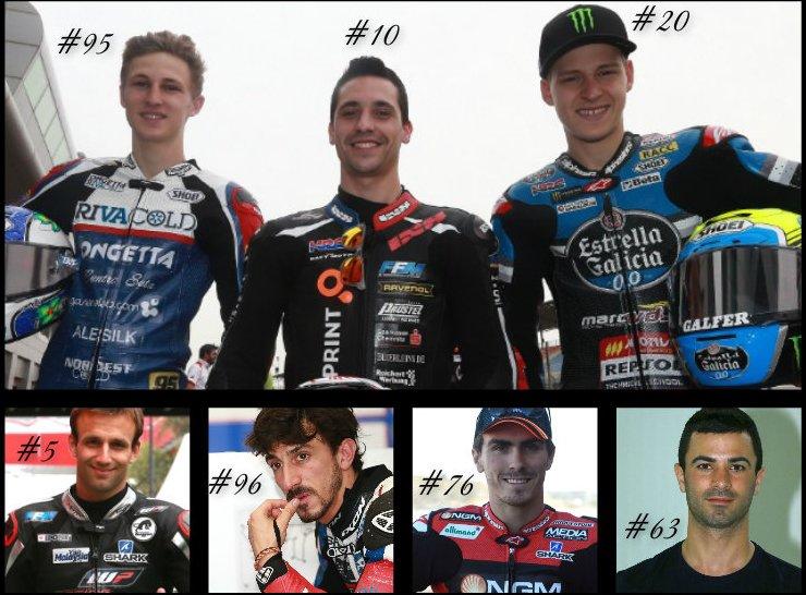 2015 = Pilotes, MotoGP/2/3 que je soutiens.