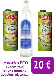 Le Packs Vodka ECO à 20 ¤ !! Exclusif !!!