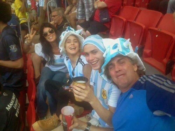 Martina a la coupe du monde de foot