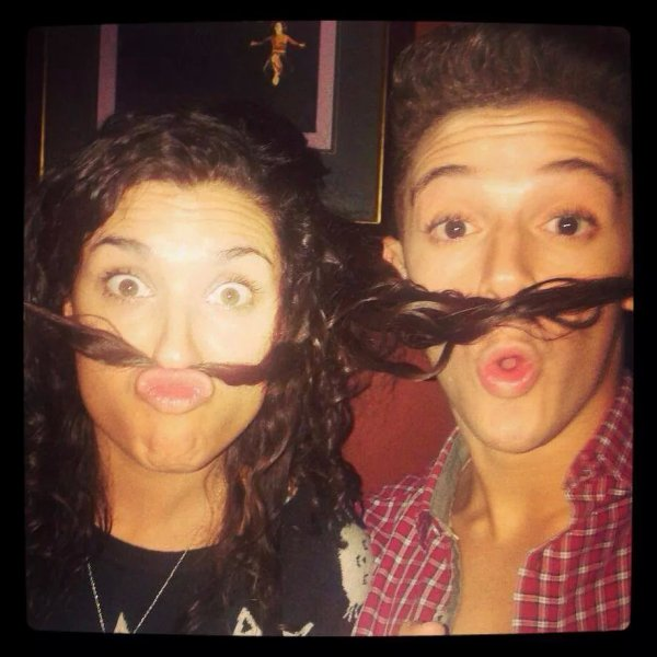 nata et federico moustache a gogo :)