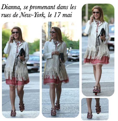Article flashback 1 : Dianna se promenant dans les rues de New-York