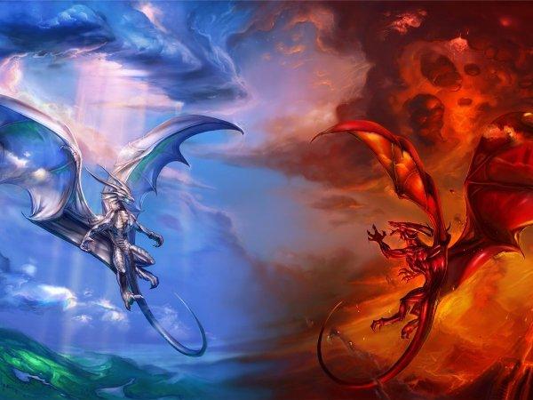 dragon de glace vs dragon de feu