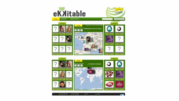 Page d'accueil d'Ekkitable.com