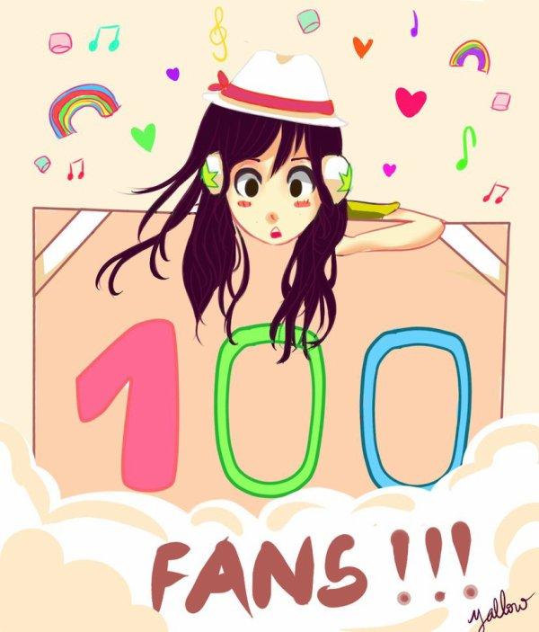 100 fans !!!!!!!!!! ouiiiiiiiii xD ^^ Merci !!