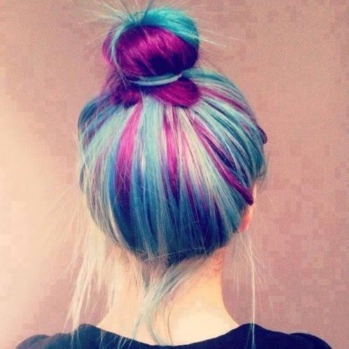 cheveux colore