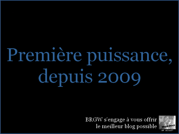 Depuis le 1er mars 2009.