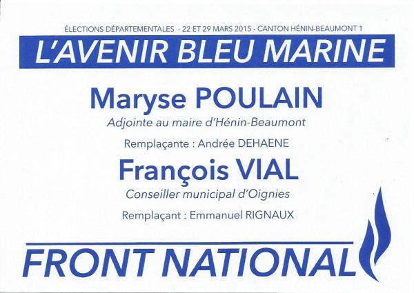 Elections départementales des 22 et 29 mars 2015