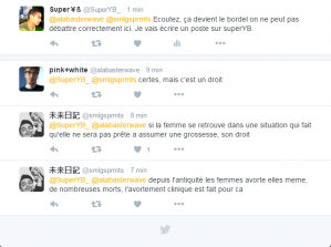 Discussion sur Twitter