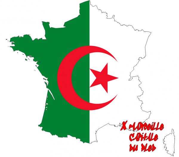 Un drapeau de l'Algérie en France?