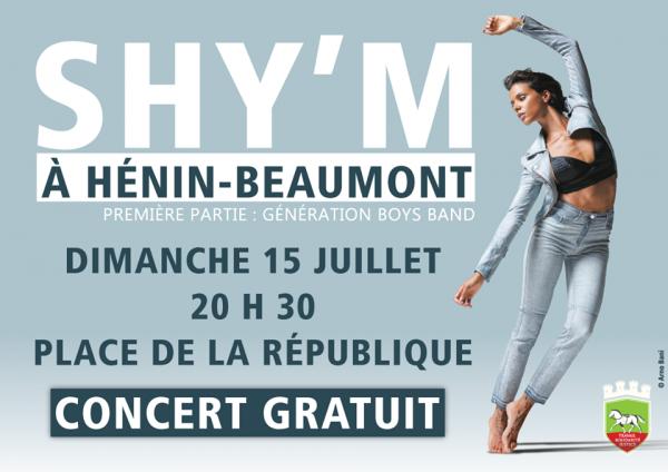 Shy'm en concert - Hénin-Beaumont le 15 juillet 2018