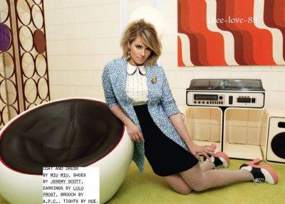 Dianna Agron a la Une de Nylon pour Janvier 2012