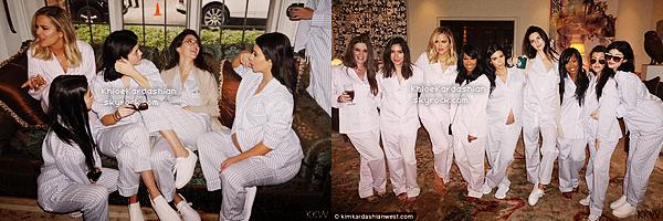 CANDIDS - PHOTOSHOOT - EVENTS - INFO -  INSTAGRAM __Peu de news de Khloé en ce moment, car comme vous le savez en ce moment elle aide Lamar, son mari, à se rétablir de son coma. Mais le 25 octobre, Khloé à bien sur répondu présente pour la Baby Shower de sa soeur Kim Kardashian. La soirée avait pour thème une soirée pyjama. Toutes les soeurs et leur amies portaient de sublimes pyjama rose et blanc façon Victoria's Secret. Khloé est sublime et je suis définitivement fan de ses cheveux courts !