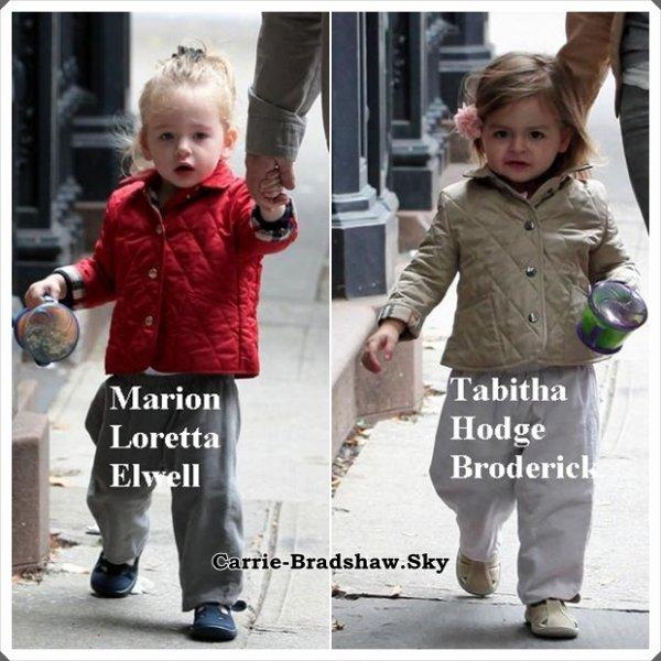 Matthew Broderick et ses jumelles