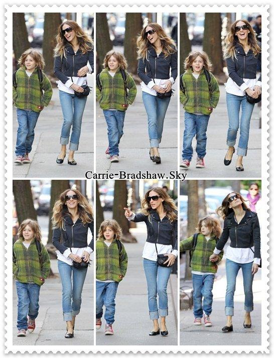 Sarah Jessica Parker et son fils James Wilke