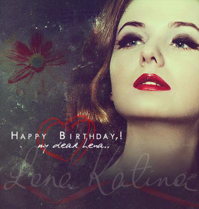 Joyeux anniversaire Léna.