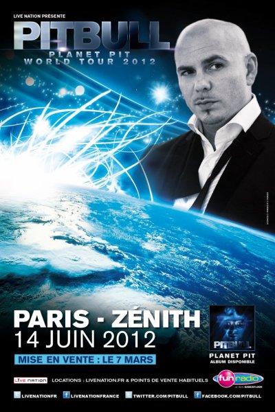 Pitbull en concert au Zénith de Paris le 14 Juin 2012