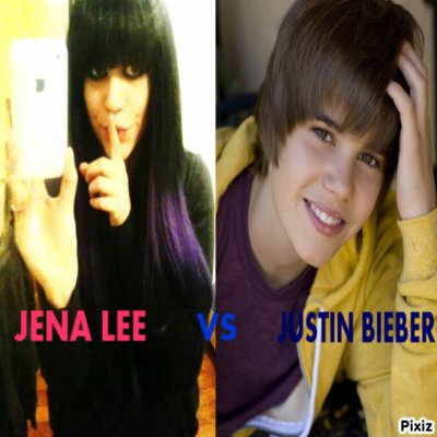 JENA LEE VS JUSTIN BIEBER coter Jena Lee ;)
