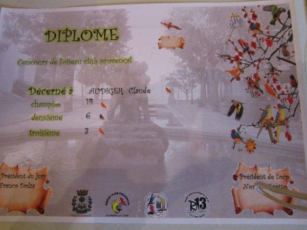 Résultats concours de Gémenos 2012