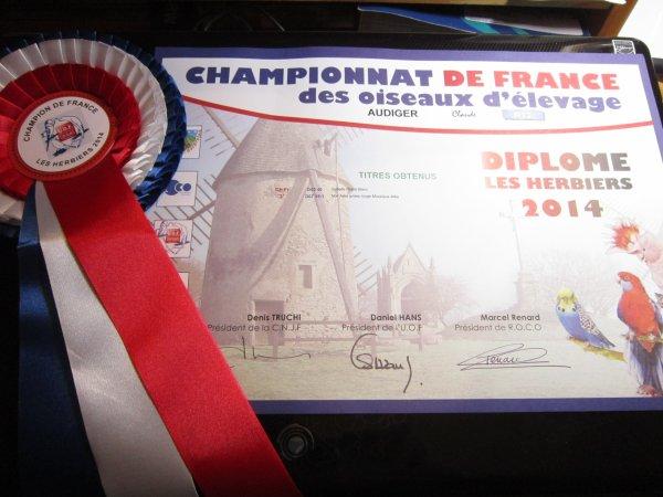 CHAMPIONNAT DE FRANCE 2014 AUX HERBIERS (Vendée)