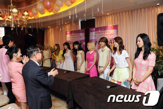 SNSD at  Lotte's event 'Romantic Date with SNSD'