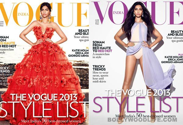 Sonam covers Vogue + Photoshoot