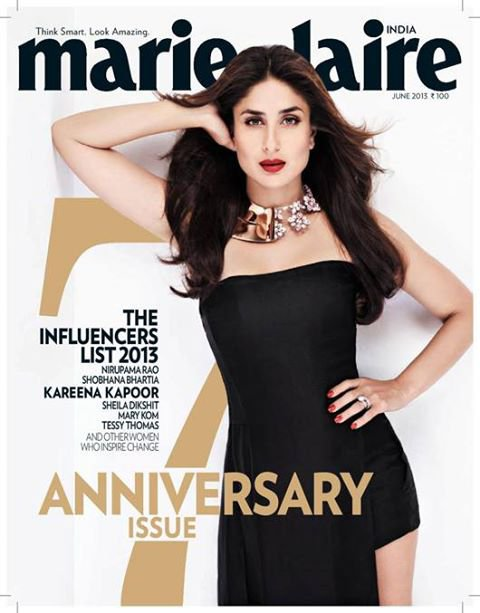 "Kareena ""The Influencers list 2013"" covers Marie Claire"