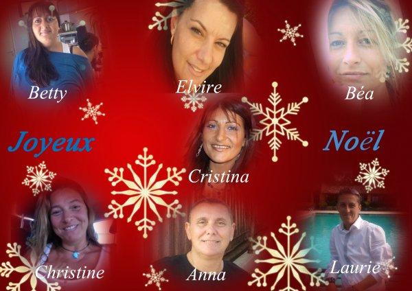 Pour vous souhaiter à vous toutes ,qui faites désormais partie de ma vie ,un magnifique et joyeux Noel ..........et vous dire combien je tiens à vous ...