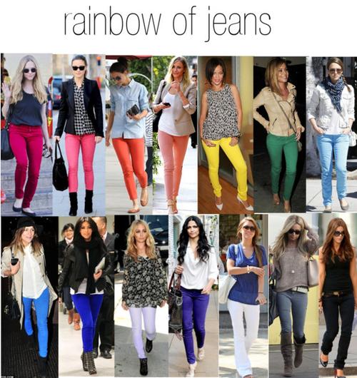 liste de souhait pour cette été  le jean couleur vive
