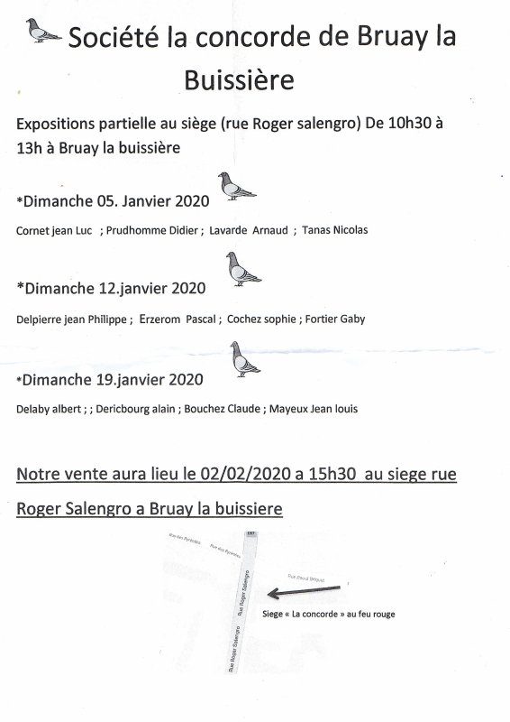 LES EXPOSITIONS 2020 DE LA CONCORDE