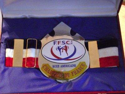 LA CEINTURE DE CHAMPION DE FRANCE 2011 - FULL CONTACT MAXIMOIS 6a8733a7e07