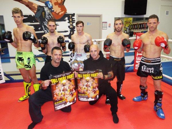 voici les 5 combattants Maximois  pour le FULL EVNT FIGHT