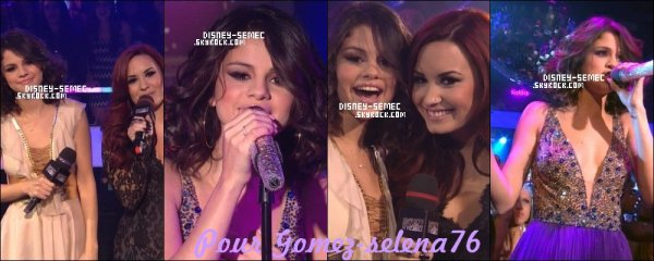 Selena gomez au MTV New Year's Eve, le 1er Janvier
