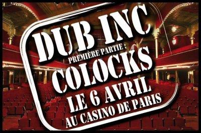 En concert le 6 avril au Casino de Paris en 1ère partie de DUB INC !!!